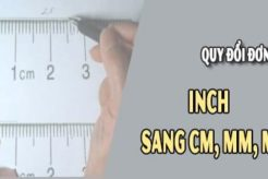 1 inch bằng bao nhiêu m