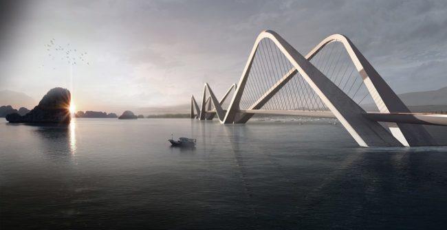 Phối cảnh kiến trúc Dự án xây dựng cầu Tứ Liên