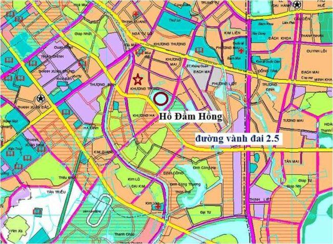 Bản đồ Quy hoạch đường vành đai 2.5 chi tiết nhất