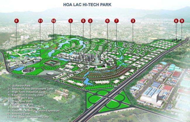 Phối cảnh Dự án khu đô thị Hòa Lạc Hà nội
