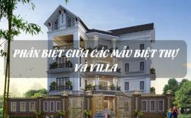 So sánh Biệt thự và Villa