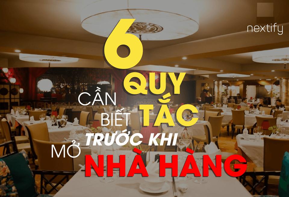 cần biết quy tắc Kinh nghiệm kinh doanh nhà hàng quan trọng